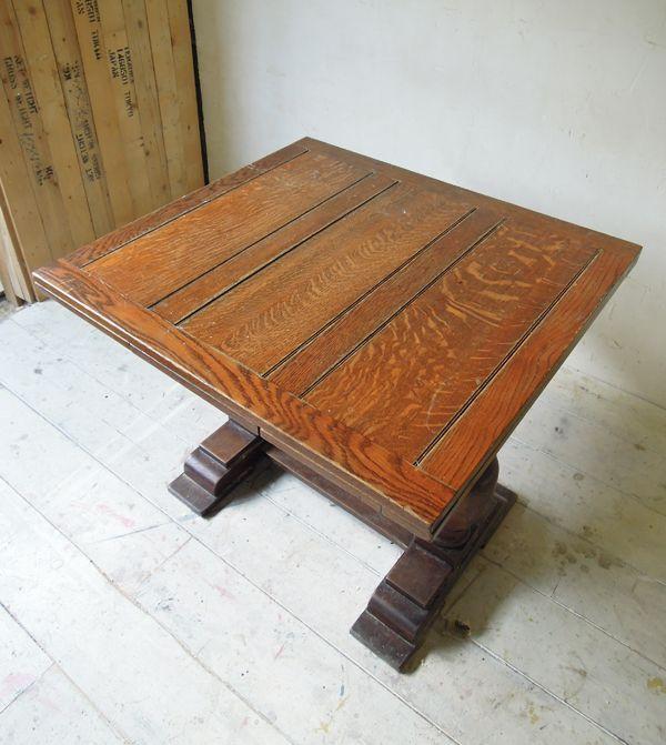 アンティークオークダイニングテーブル