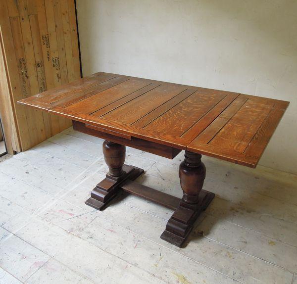 伸長式オークドローリーフテーブル