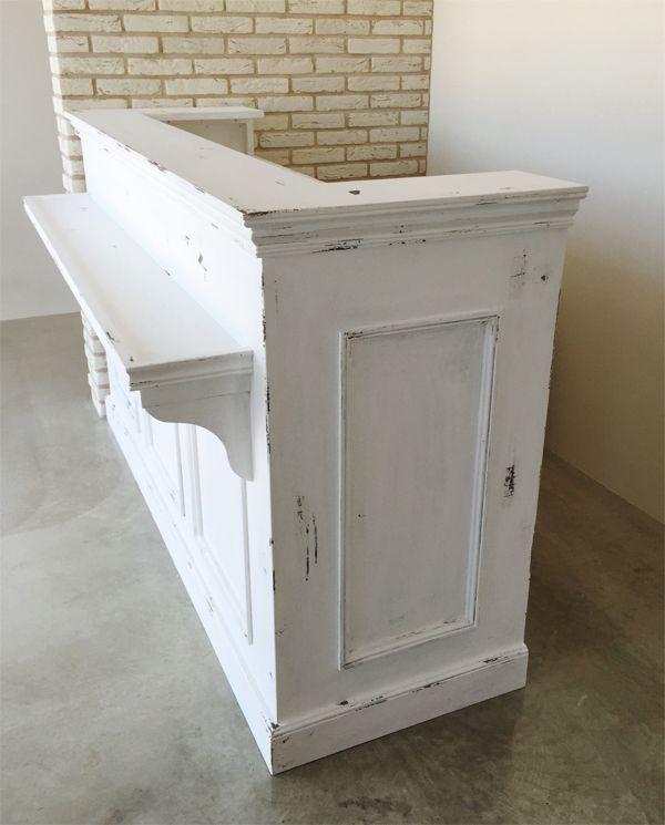 荷物置き付きレジカウンター,店舗什器