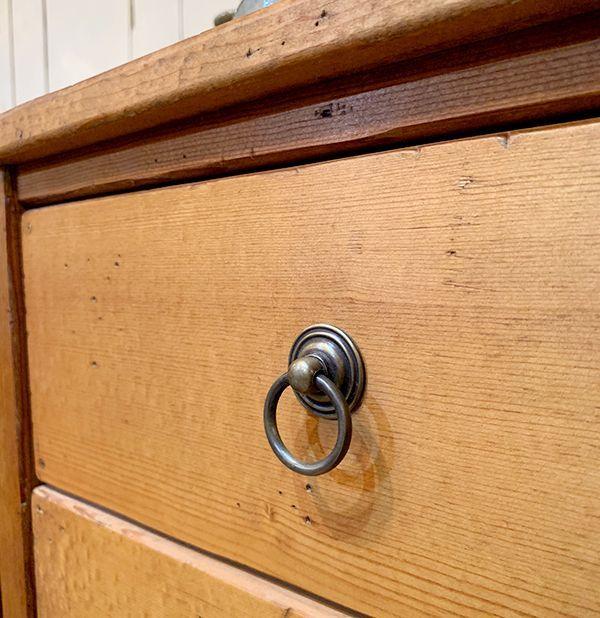 パイン材,真鍮取っ手,オーダーメイド家具