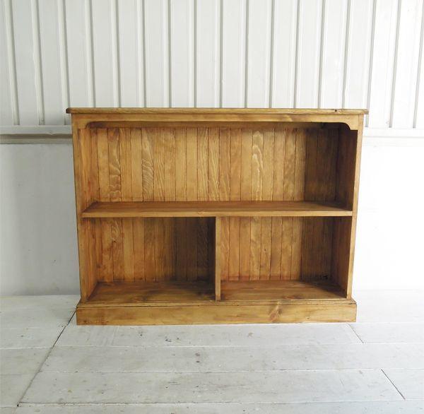 パイン材本棚、オールドパインブックシェルフ