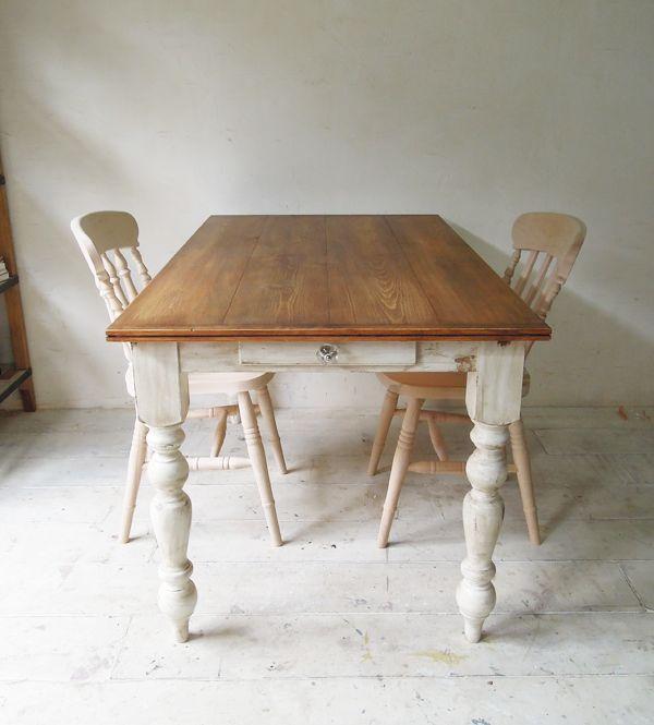 アンティーク調パインダイニングテーブル(w1350)