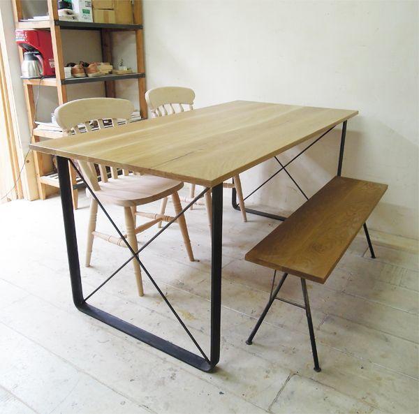 W1600鉄脚ダイニングテーブル