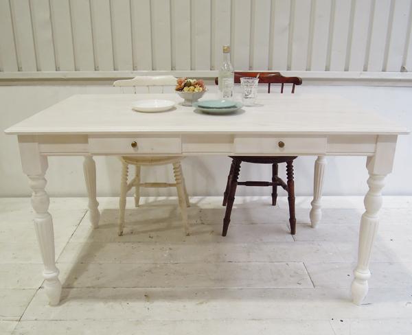 シャビーホワイト,ダイニングテーブル