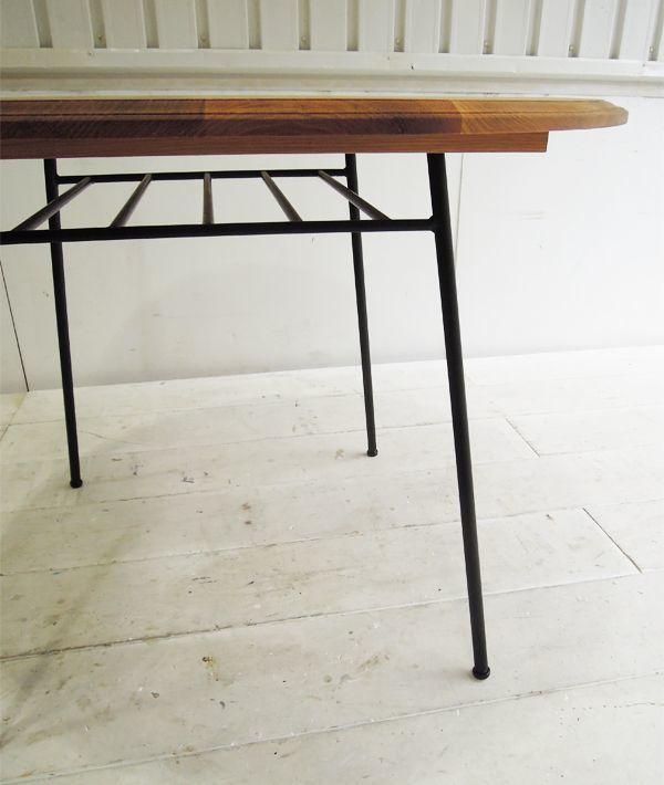 鉄脚テーブル,棚付きアインレッグ