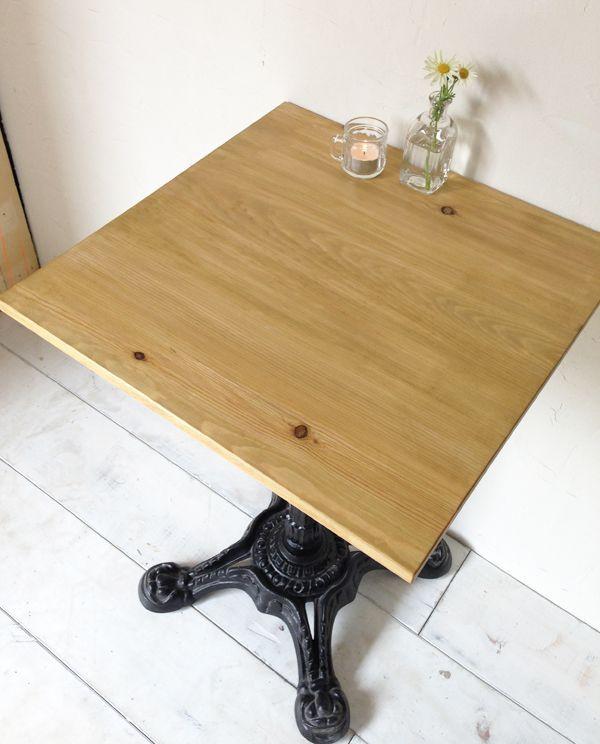 業務用鉄脚テーブル、ナチュラル