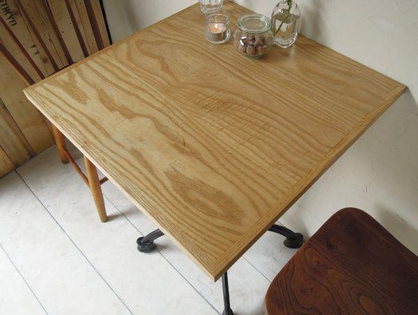 業務用鉄脚テーブルナチュラルテイスト