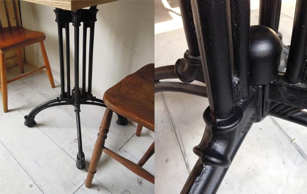 インダストリアルな鉄脚テーブル
