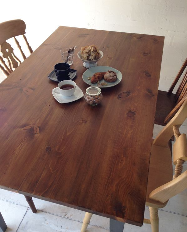 カラーオーダーテーブル、パイン材