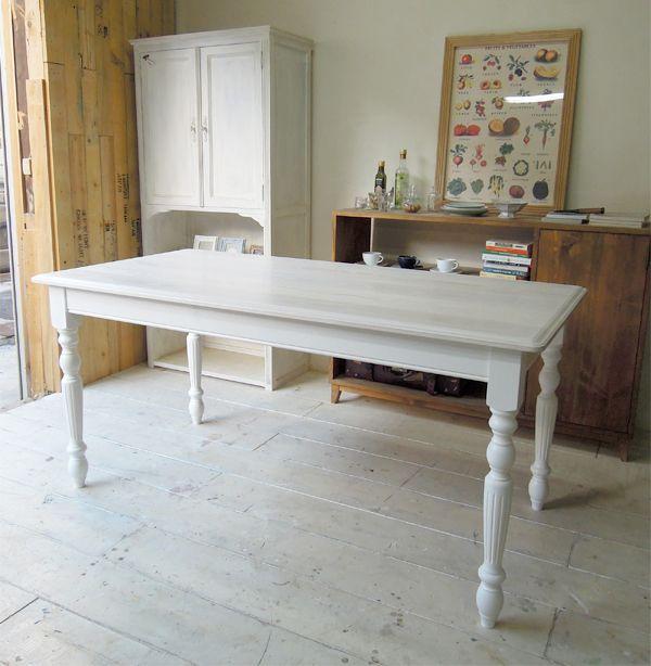 ホワイトダイニングテーブル