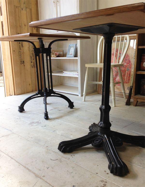 鉄脚テーブル,無垢板