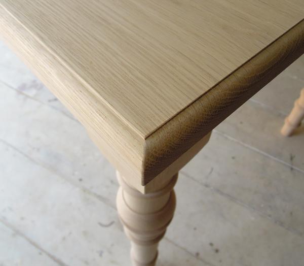 ホワイトオークダイニングテーブル、無垢板