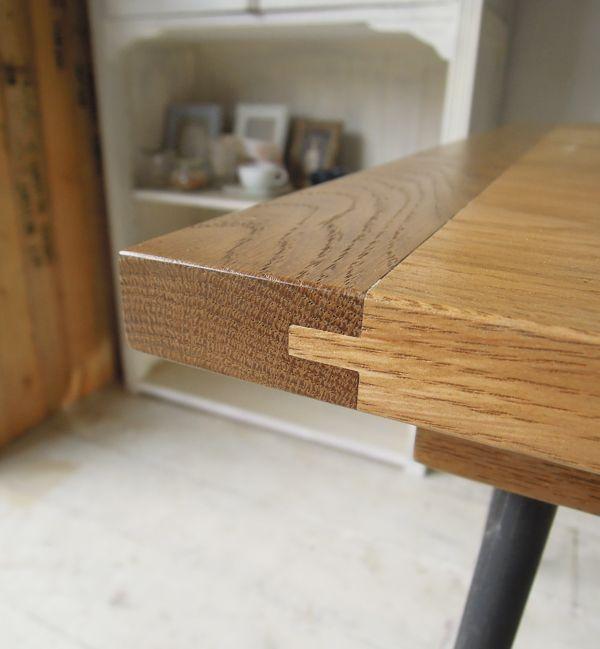 アンティークテーブル,タン&グルーブ