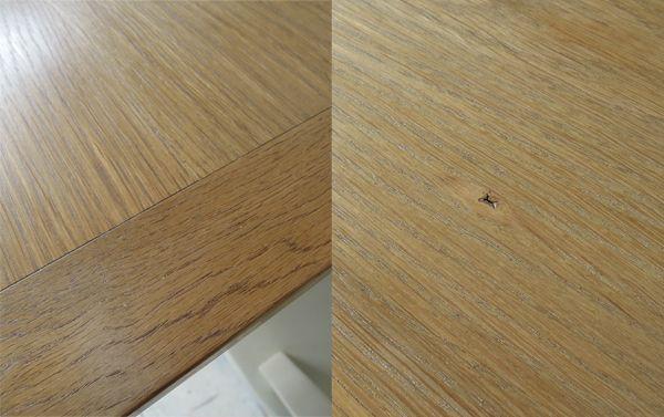 無垢板天板,オークテーブル