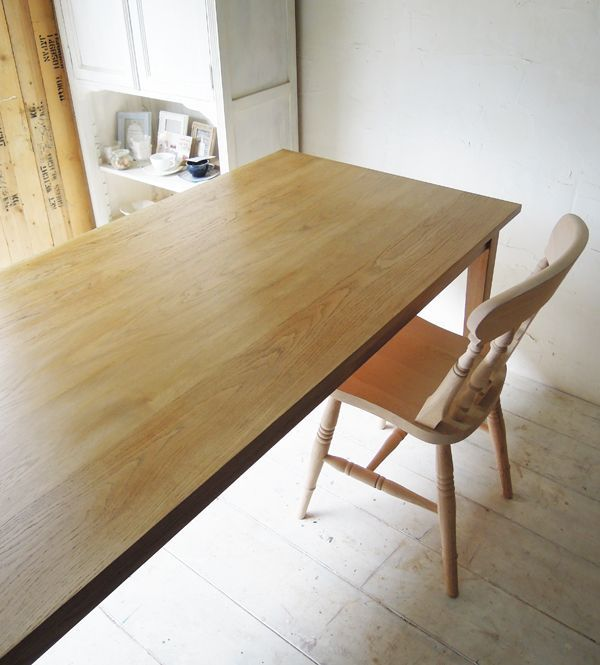 オーク無垢板ダイニングテーブル