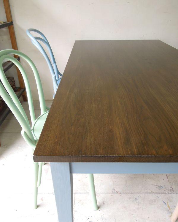 ホワイトオーク天板のテーブル
