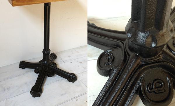 ホワイトアッシュ材の鉄脚テーブル