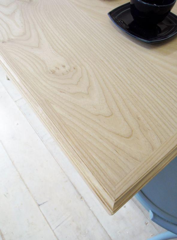 モール加工したテーブル天板