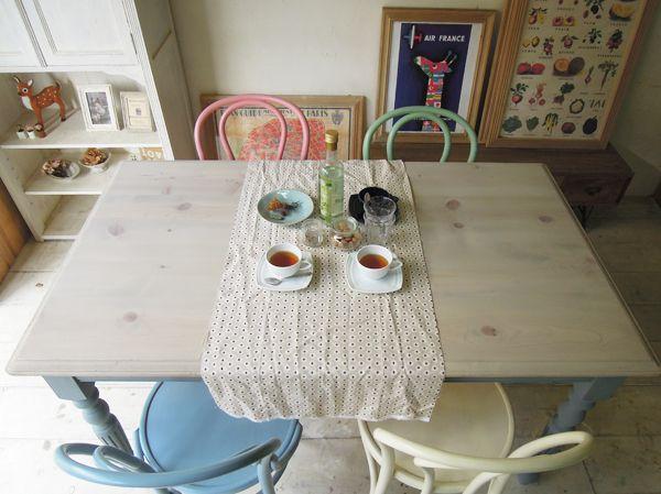 パイン材カントリーテーブル