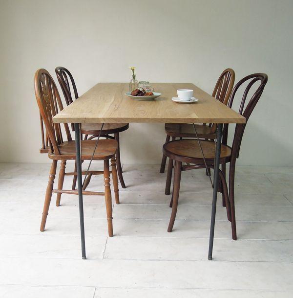 4人掛けオーダーメイド鉄脚テーブル