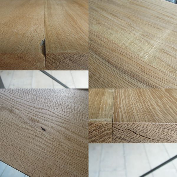 オーク材テーブル、大阪東京