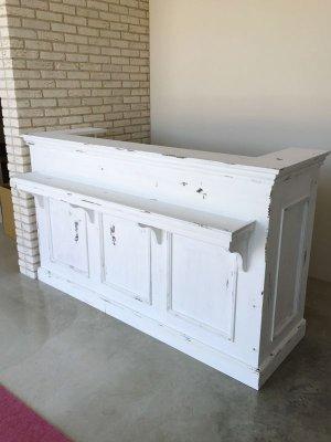 美容室にお納めしたアンティーク調カウンター(W1800)