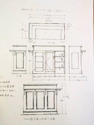 お店のオープンに合わせてサイズやデザインを変更できるオーダーメイド家具です。