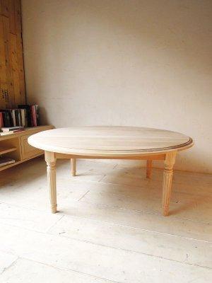 画像1: オーク・ラウンドコーヒーテーブル