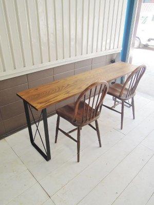 W1800×D400サイズのロングカウンターテーブル
