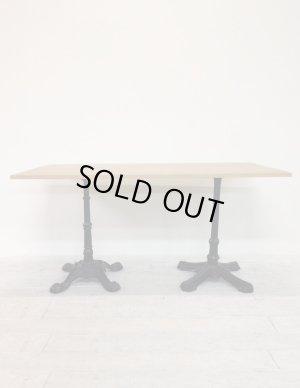 画像1: 2本鉄脚ダイニングテーブル