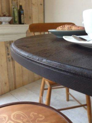 アンティーク調のテーブル天板エッジ加工