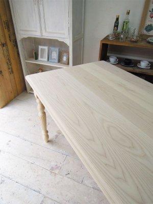 ホワイトアッシュ(タモ)材を使った無垢天板