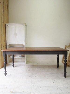 ホワイトアッシュ無垢板天板のダイニングテーブル