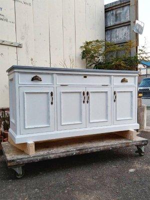 フランスアンティーク家具をイメージしたテレビボード、背が高い特注サイズです!