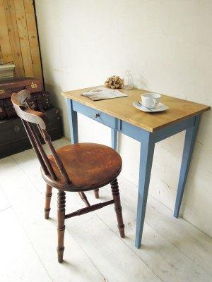 画像1: ワークテーブル ブルー