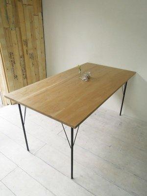 画像1: アイアンレッグダイニングテーブル