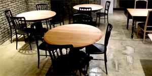 100cmを超える大きなラウンドテーブル丸天板の製作もお任せ