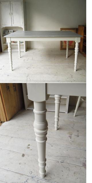 シャビーグレーのフレンチシックダイニングテーブル1500