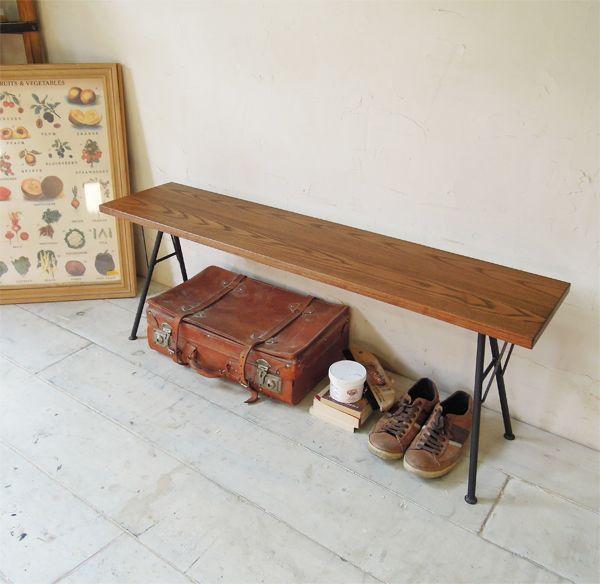 インダストリアル家具、ベンチ