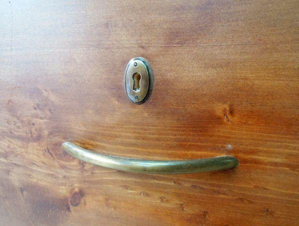 アンティークチェスト,パイン家具,真鍮取っ手