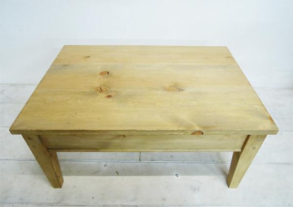 オールドパイン材のローテーブル
