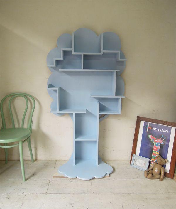 ツリー型ブックシェルフ,かわいい本棚