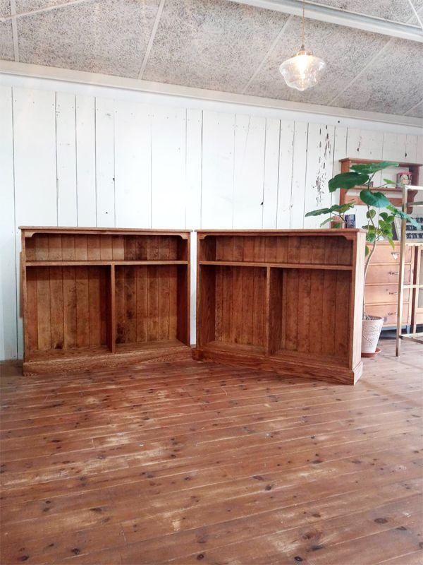 店舗什器,壁面収納,オーク