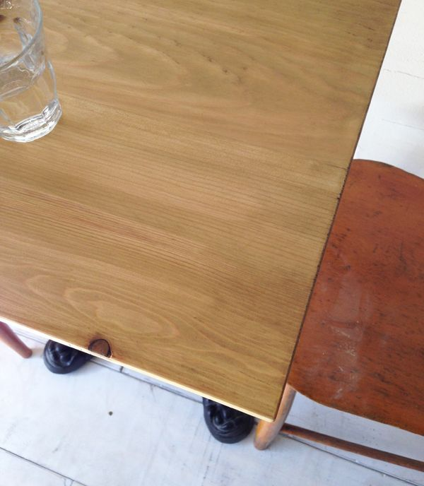 業務用テーブル天板、鉄脚