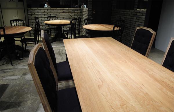大阪,飲食店向け無垢板テーブル