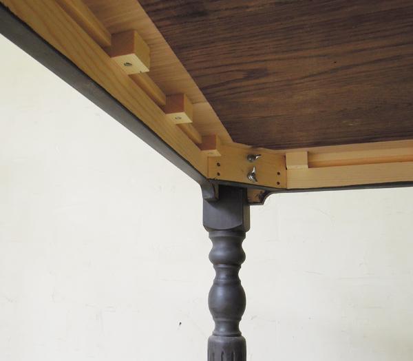 駒止めのテーブルアンティーク家具