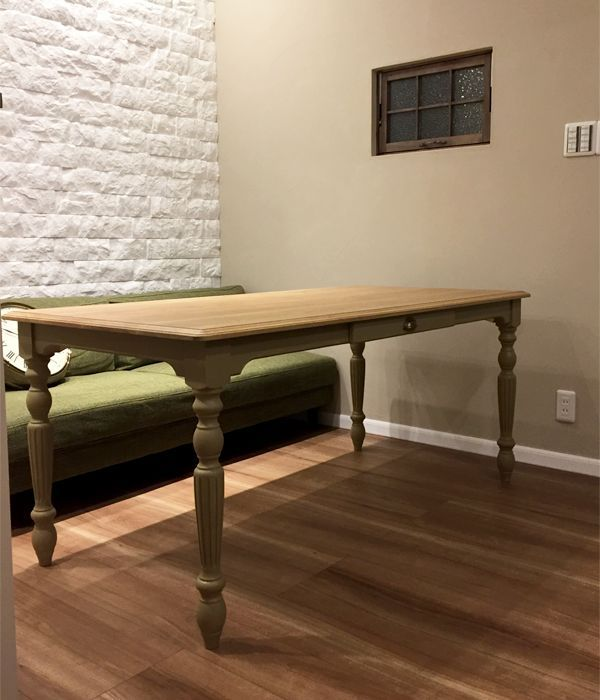ソファに合わせる,背の低いダイニングテーブル