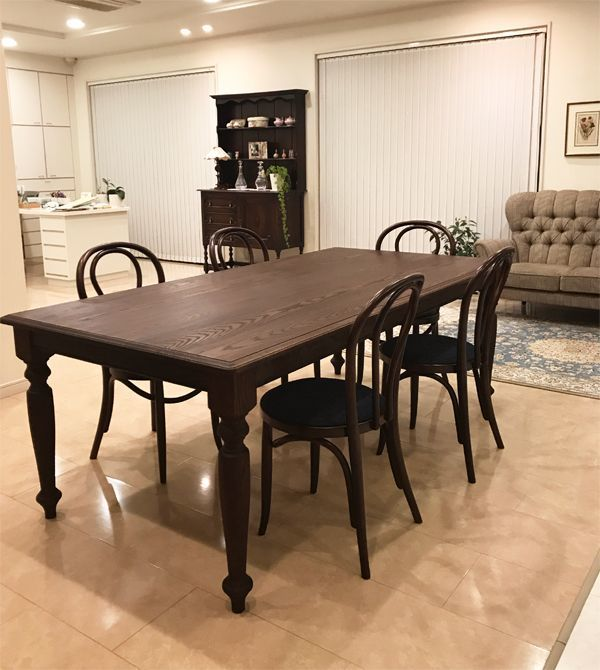 ワインレッド,オーダーメイドダイニングテーブル