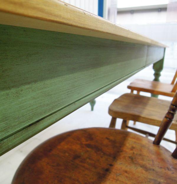 グリーン,アンティークテーブル