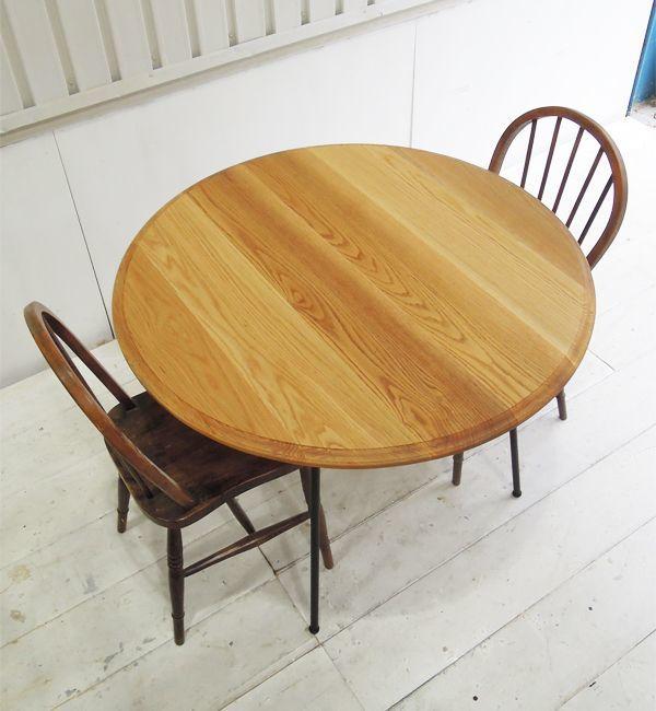 丸テーブル,ホワイトオーク無垢材